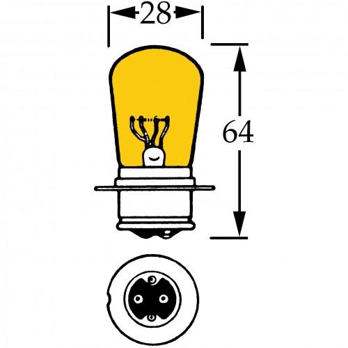 12v BPF Bulb for Rolls-Royce Fog / Flashers - Amber LLB409 image #1