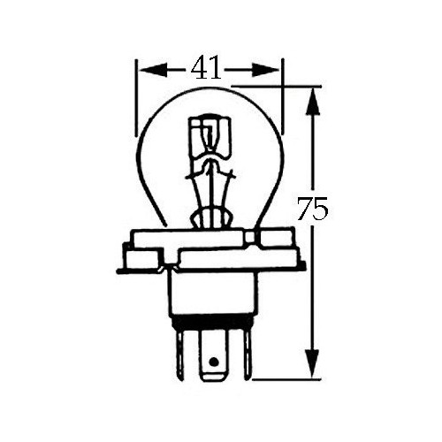 6v Bulb for UEC Headlamps 45/40w LLb423 image #1