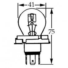 6v Bulb for UEC Headlamps 45/40w LLb423