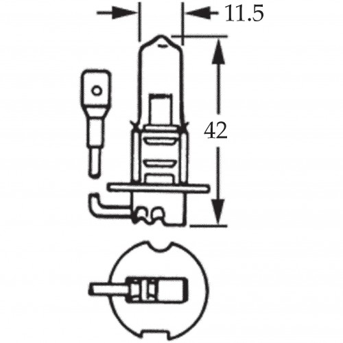 H3 Halogen Bulb 12v 130w for Off Road Use LLB489 image #1