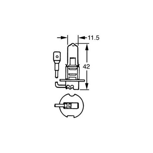 H3 Halogen Bulb 6v 55w LLB455 image #1