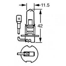 H3 Halogen Bulb 6v 55w LLB455