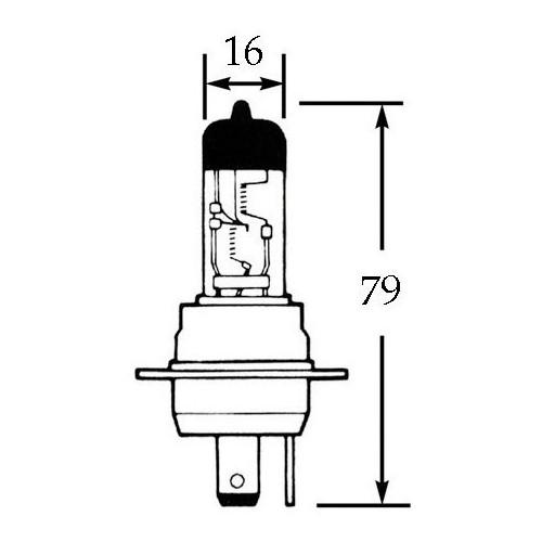 12v Halogen Bulb for BPF Headlamps 60/55w LLB463 image #1
