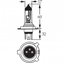 H4 Halogen Bulb 12v 60/55w