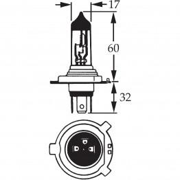 H4 Halogen Bulb 12v 60/55w LLB472