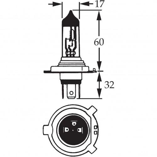 H4 Halogen Bulb 12v 130/90w for Off Road Use LLB477 image #1