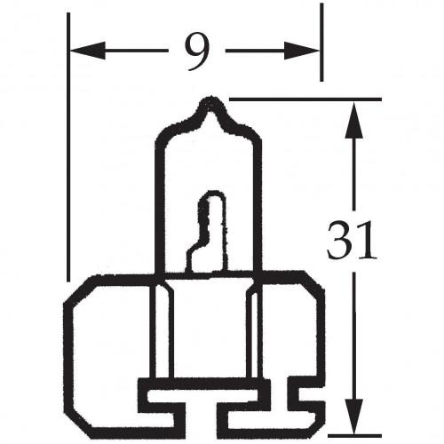 H2 Halogen Bulb 12v 100w for Off Road Use LLB482 image #1