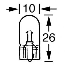 Capless Bulb 6v 3w (W2.1x9.5d)