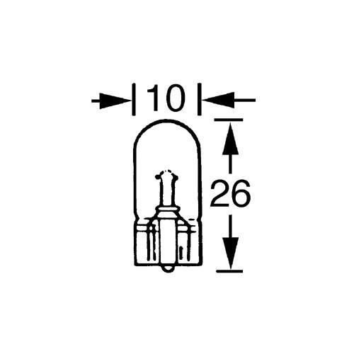 Capless Bulb 6v 3w (W2.1x9.5d) LLB500 image #1