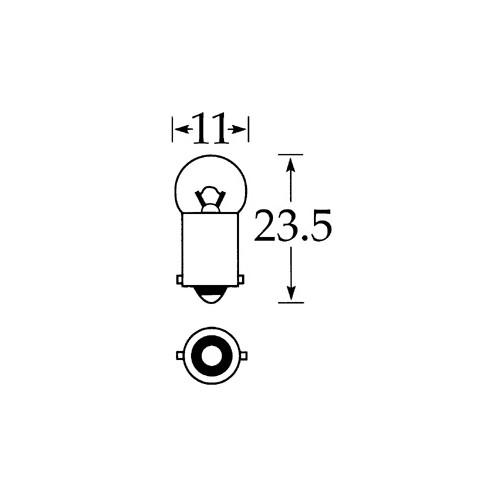 6v 3w Single Contact Bulb BA9s Cap LLB641 image #1
