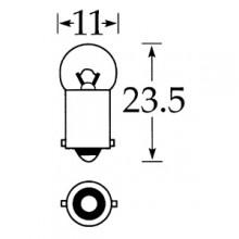 6v 3w Single Contact Bulb BA9s Cap LLB641