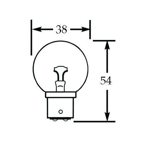 24v Bulb Double Contact Transverse Filament 12w LLB811 image #1