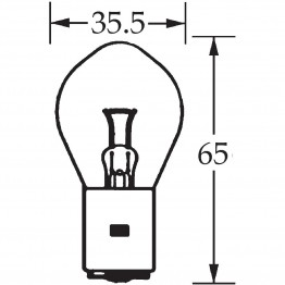 12v Bulb Single Contact Bosch/P100 45w LLB96