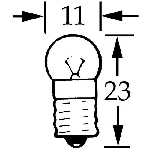 Bulb Screw Type 6v 3w  Single Contact MES E10 LLB990 image #1