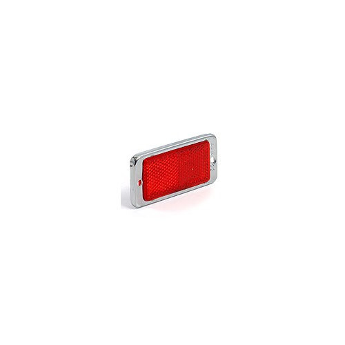 Red Rectangular Reflector 89 mm X 43 mm image #1