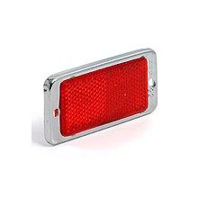 Red Rectangular Reflector 89 mm X 43 mm