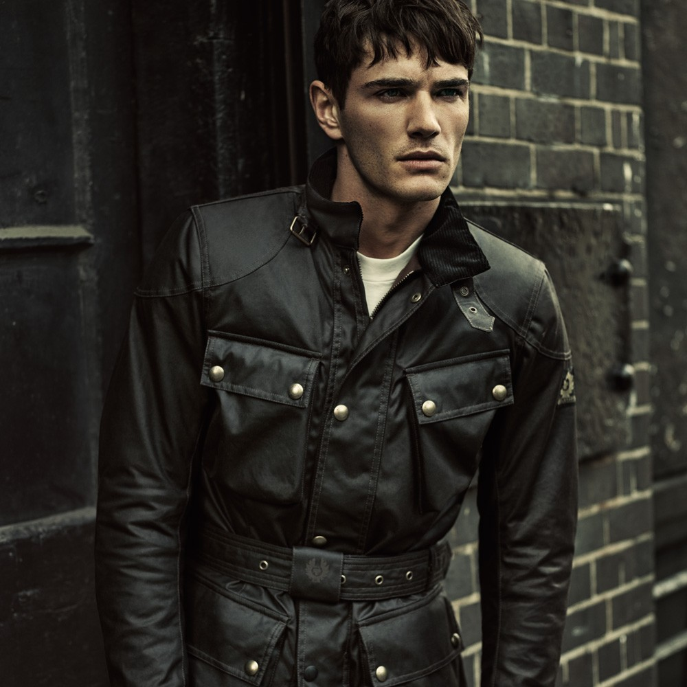 Belstaff Classic Tourist Trophy Waxed Jacket-Brown-Mens image #1