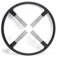 Bluemels Steering Wheel - 15 1/2 inch diameter - Black