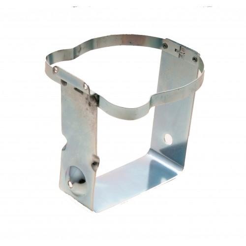 Windscreen Washer Bottle Frame - Round - Silver