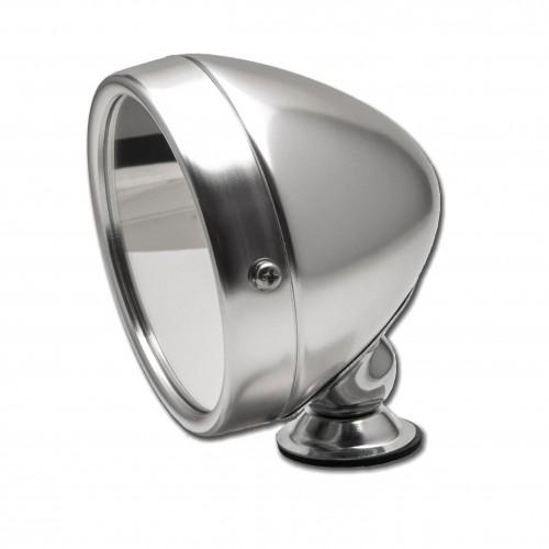 Raydyot Type Racing Mirror - Flat Glass - Polished Aluminium