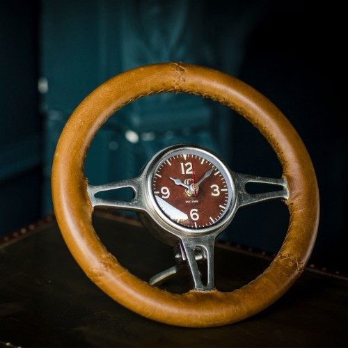 Hawthorn Steering Wheel Desk Clock