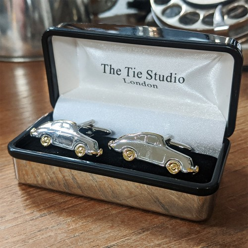 Cuff Links - Car with Golden Top