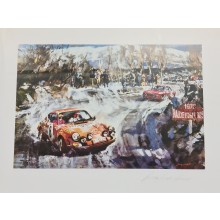 Gotschke 1970 Monte Carlo Signed Print