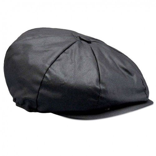 Belstaff Hislop Wax Cotton Cap - Black