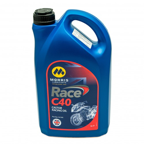 Morris Engine Oil - Castor Based MLR 40 Racing Oil(5 Litres)