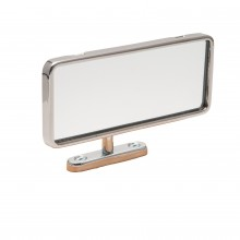 Dash Mounted Interior Mirror - Chrome with Rim