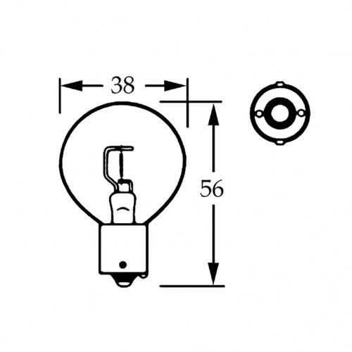 12v Bulb Single Contact Axial Filament 36w LLB002