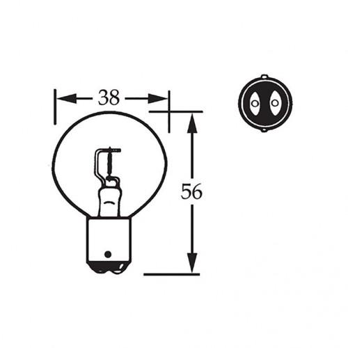 12v Bulb Double Contact Axial Filament 36w LLB005