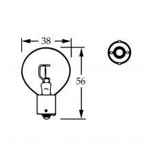 12v Bulb Single Contact Axial Filament 48w LLB023