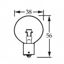 12v Bulb Single Contact 'V' Filament 36w LLB057