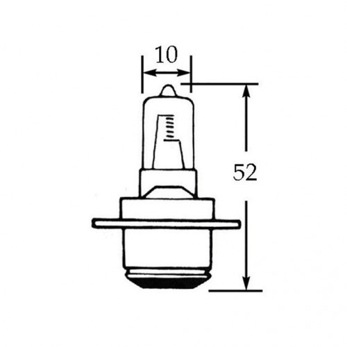 12v Halogen Bulb for BPF Fog & Spotlamps - 48w LLB185H