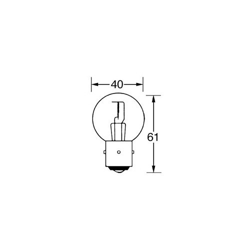 12v Bulb Double Contact Marchal 45/40w LLB217 image #1