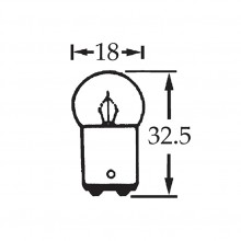 6v 10w Double Contact Bulb BA15d Cap LLB244D