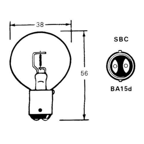 Bulb (BA15d) 12 Volt 48 Watt LLB27