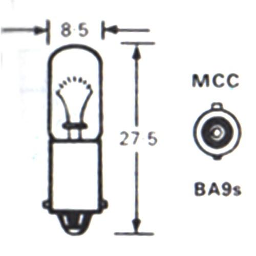 Bulb (BA9s) 12 Volt 2 Watt - LLB288