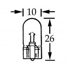 Capless Bulb 12v 2w (W2.1x9.5d) LLB297