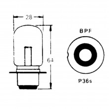 12v Bulb for BPF Foglamps 48w (Single Contact)