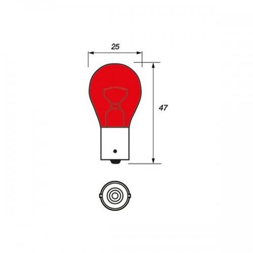 12V 21W BA15S Red
