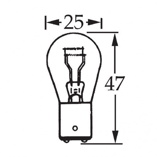 6v 5/21w Parallel Pin Double Contact Bulb BA15d Cap