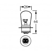 24v Bulb for BPF Foglamps 44w - Double Contact - Yellow LLB601