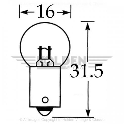 6v 5w Single Contact Bulb BA9s Cap