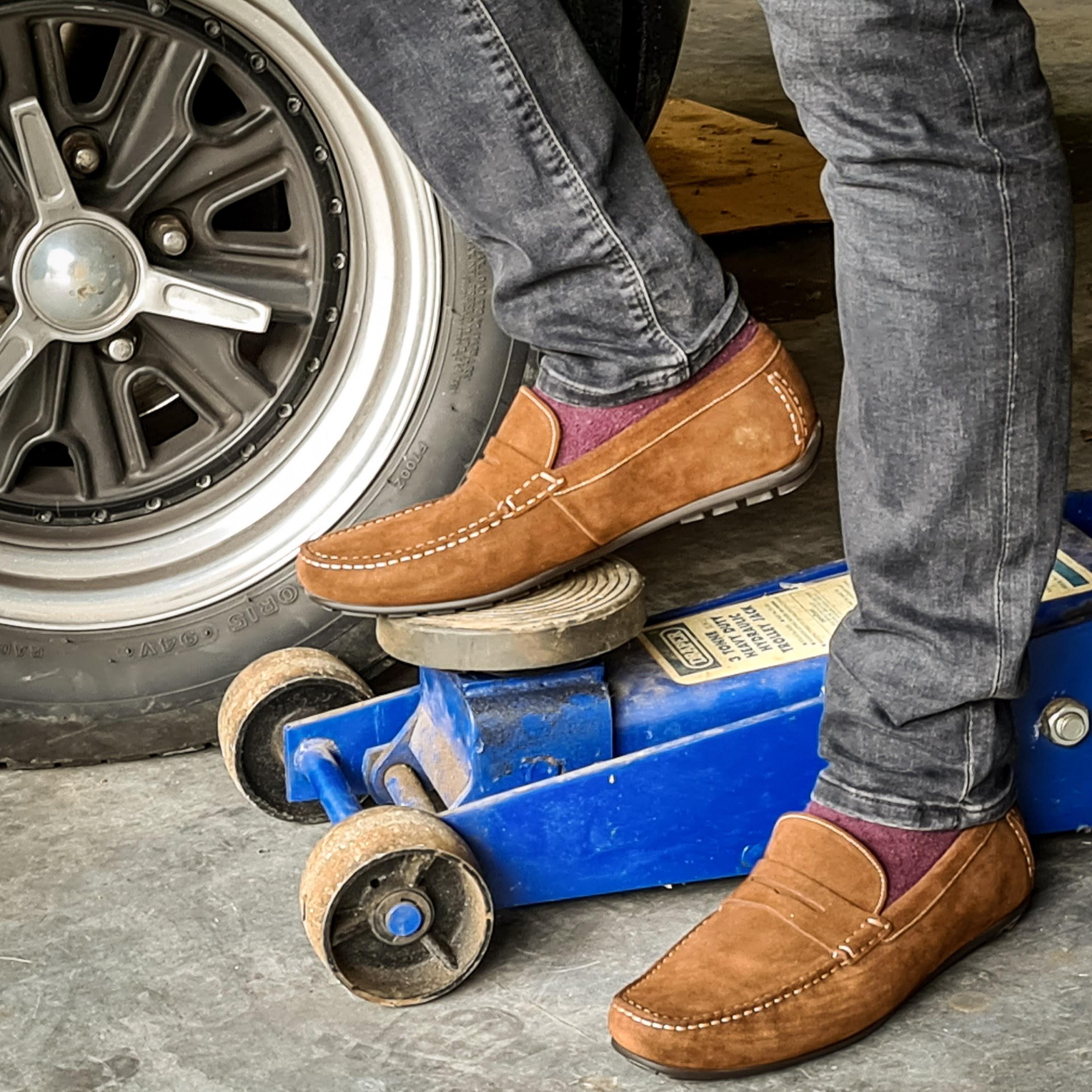 Loake Shoes - Donnington Tan Suede image #1