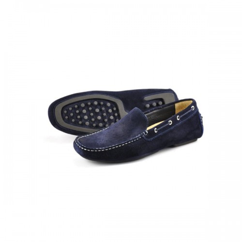Loake Shoes - Donington Navy Suede image #2