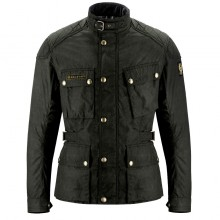Belstaff Mcgee Wax Cotton Jacket - Black/Brown