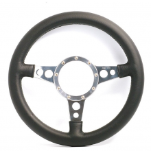 Mota Lita Mark 4 Leather Rim Steering Wheel With Holed Spokes - 15 Inch Dished