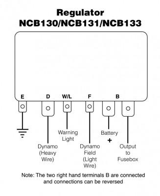 Dynamo Regulator Control Box type RB340 / NCB130